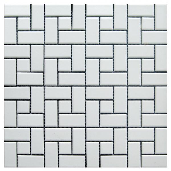 Adex White Pinwheel Floor Mosaic Garden State Tile