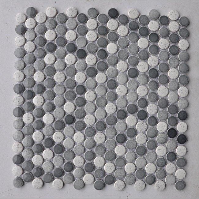 Stone Glossy Penny Rounds Garden State Tile