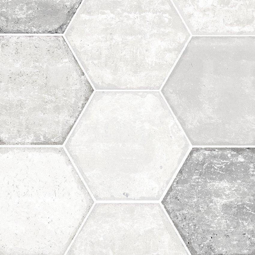 Bricklane White Hexagon Garden State Tile