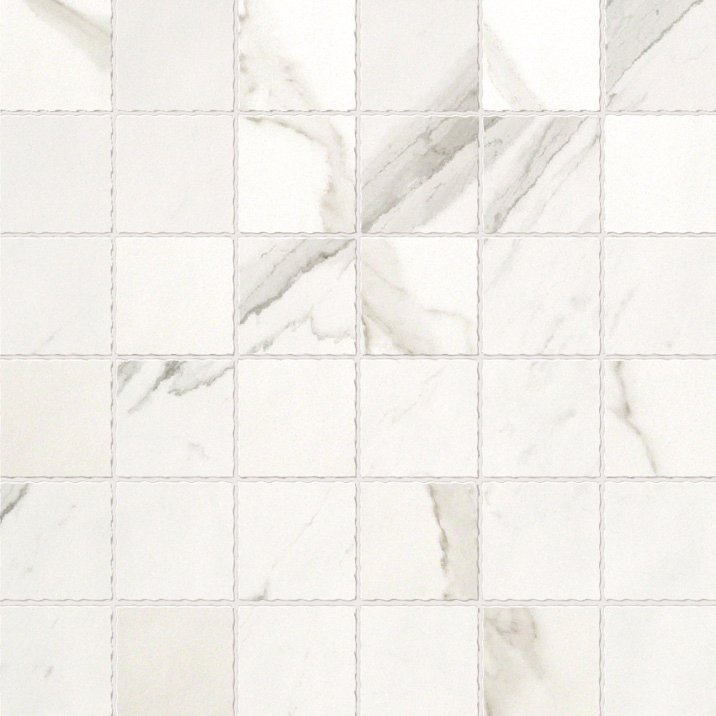 Statuario Macro Mosaic Garden State Tile