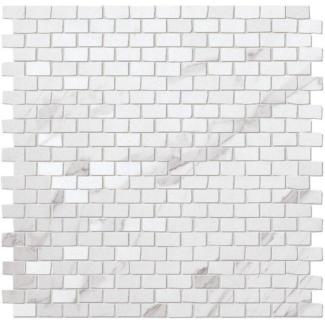 Statuario Brick Mosaic Garden State Tile
