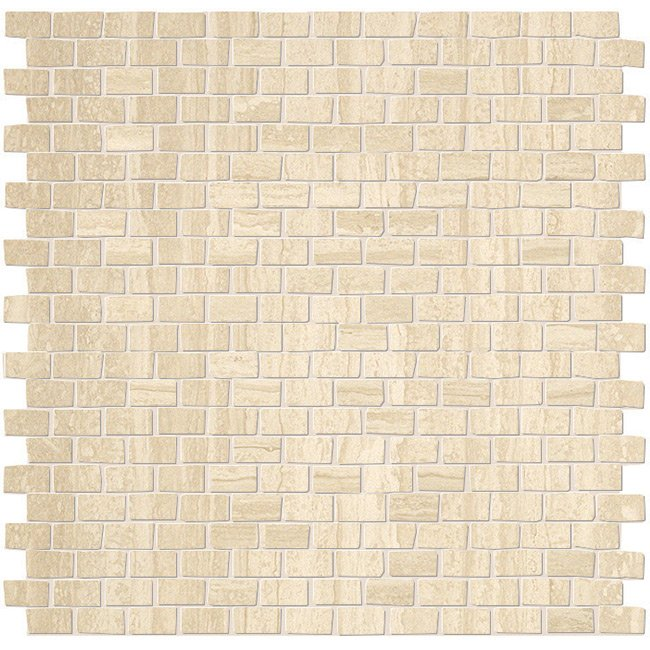 Travertino Brick Mosaic Garden State Tile