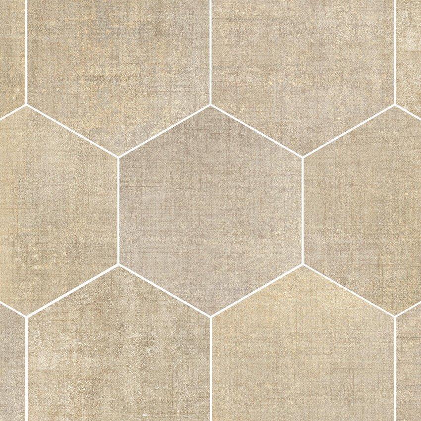 Textile Sand Hexagon Garden State Tile