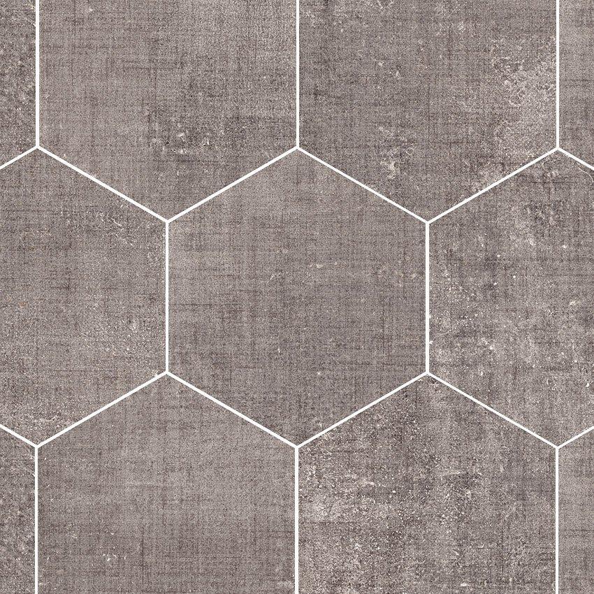 Textile Taupe Hexagon Garden State Tile