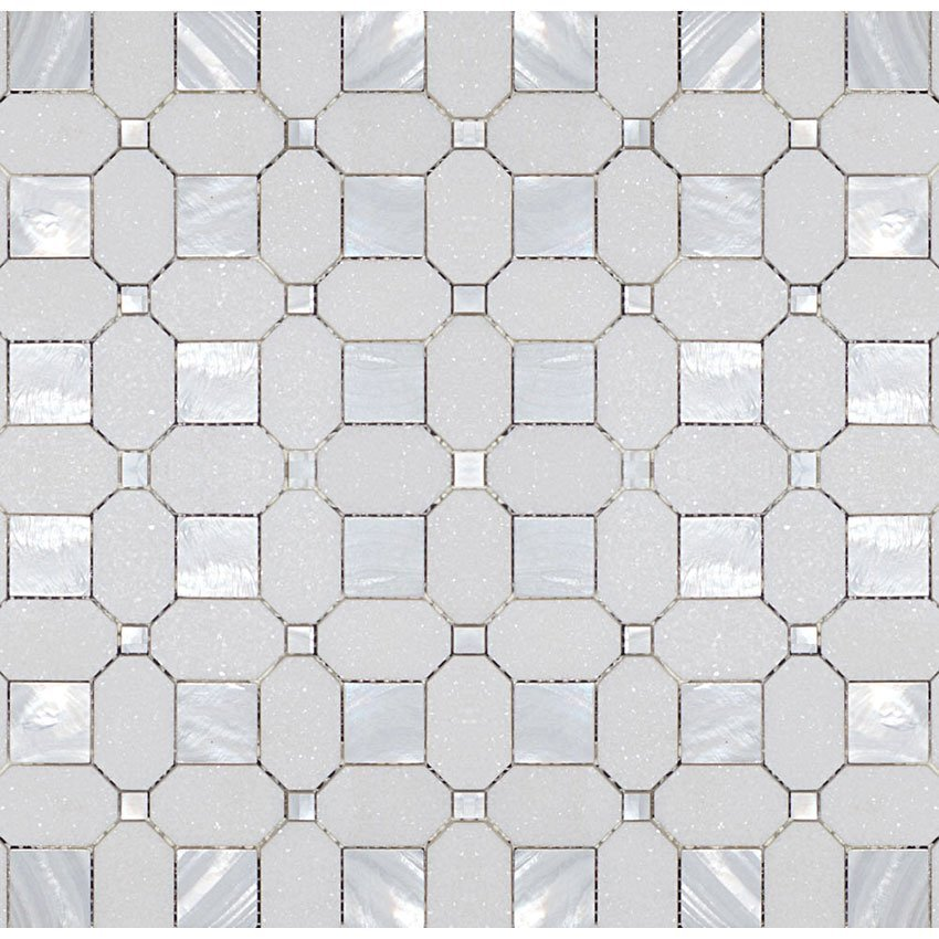 Thassos Mother Of Pearl Square Amp Dot Garden State Tile
