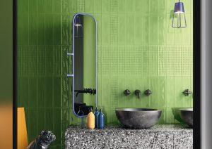 Slash Apple Green Wall Tile