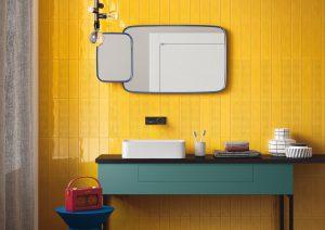 Slash Yellow Wall Tile