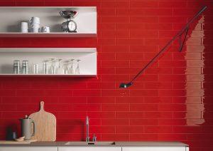 Slash Red Wall Tile