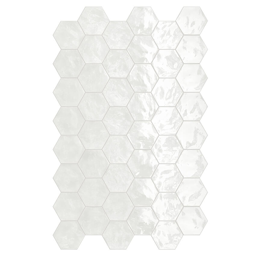 Lemon Sorbet Glossy Hex Garden State Tile