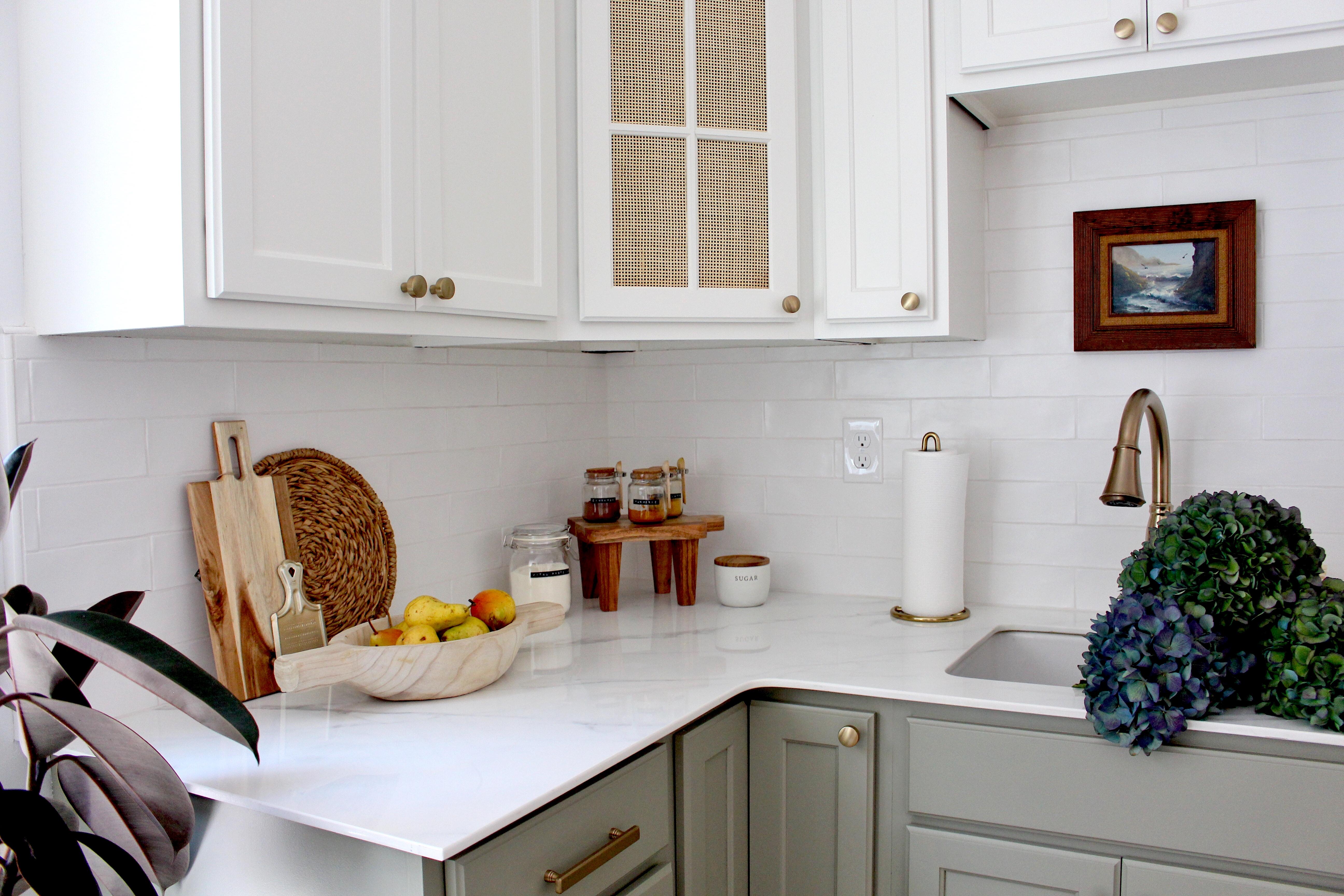 White Porcelain Countertop Kitchen