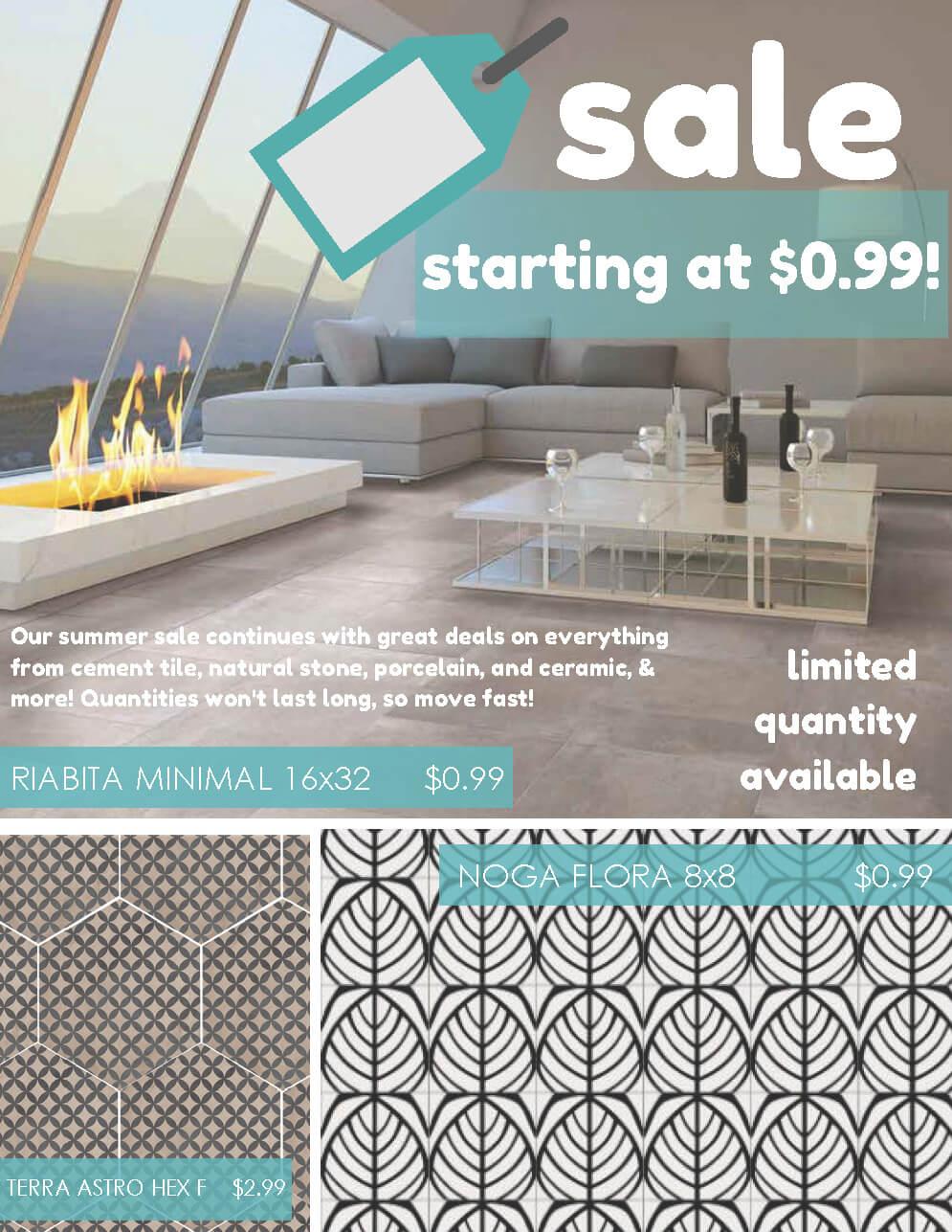 Wall & Floor Tile on Sale