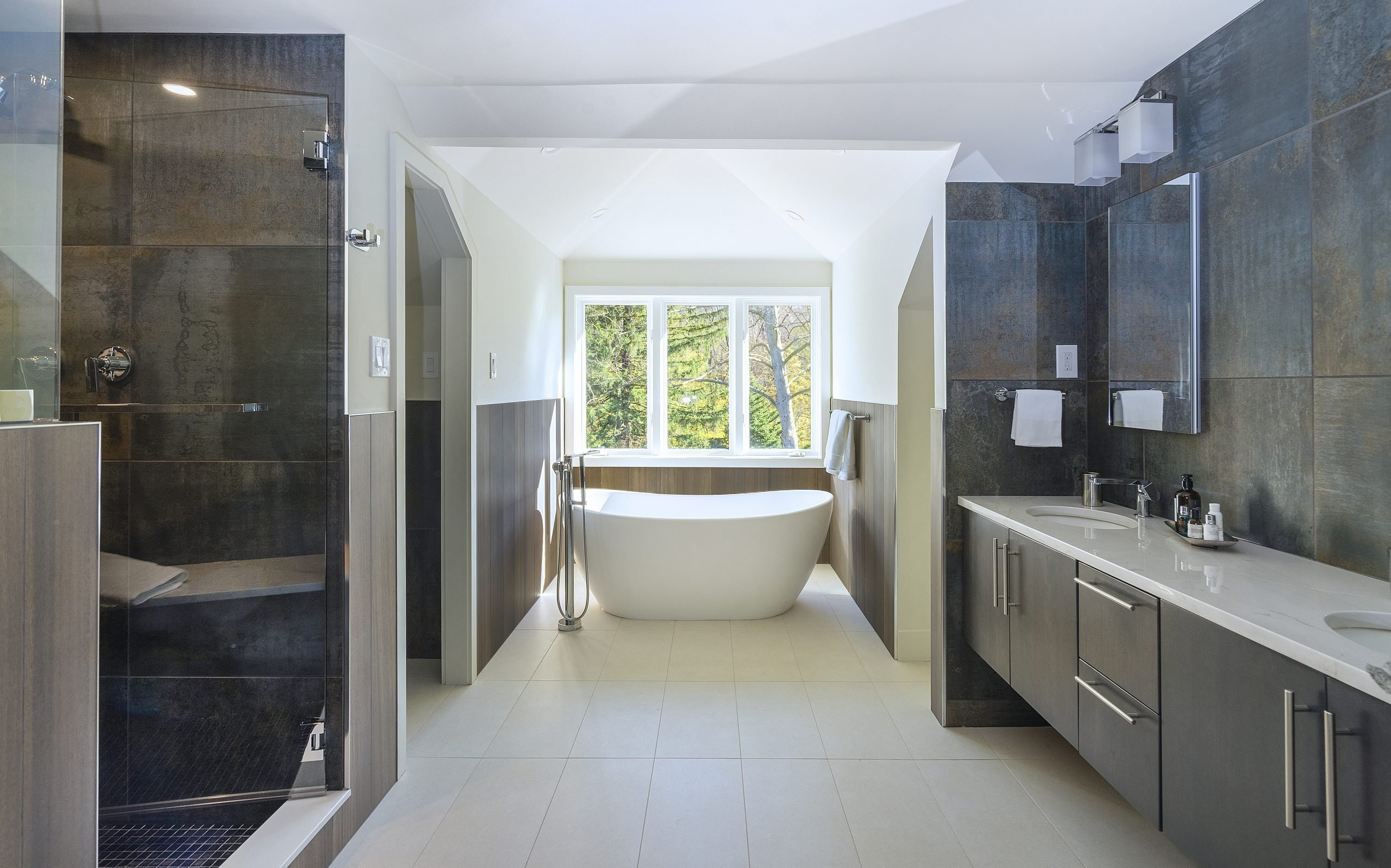 Porcelain Tile Master Bathroom