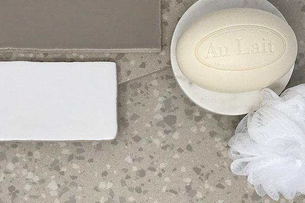 Terrazzo Bathroom Flat Lay