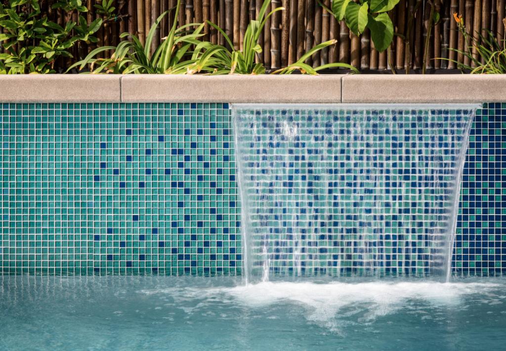 Home Pool Glass Tile