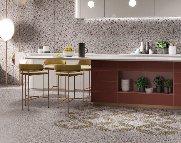 Design Composite Terrazzo Residential Kitchen